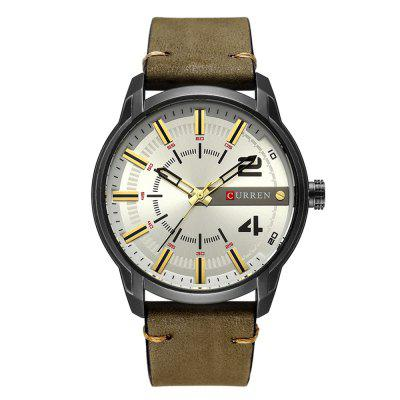 CURREN Men's Antique Band Material Type Leather Cool Quartz Wrist Watch