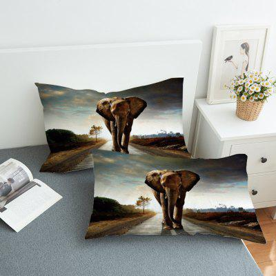 2pcs 3D Elephant Decorative Pillow Case бейсболка yupoong flexfit double jersey black s m
