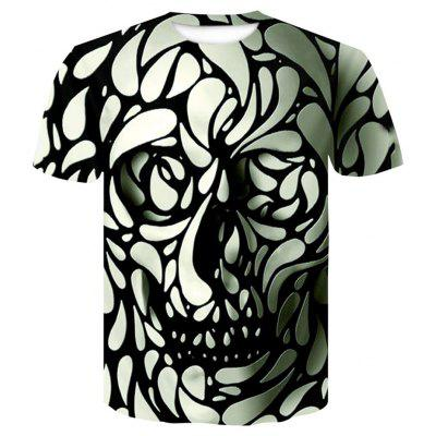 Men's New Digital Print 3D Short Sleeve Top T-shirt