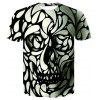 Men's New Digital Print 3D Short Sleeve Top T-shirt - MULTI-C