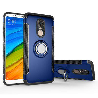 Cover Case for Redmi 5 Plus Hybrid Car Magnetic Holder Shockproof TPU and PC