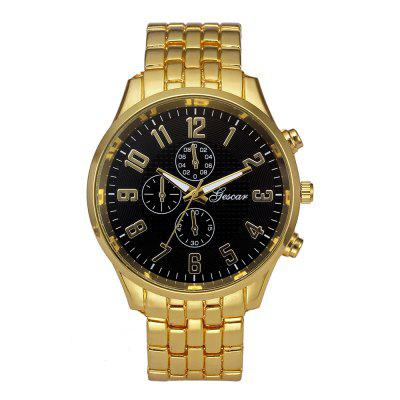 Geneva Men's Large Dial Cool Quartz Stainless Steel Business Wrist Watch