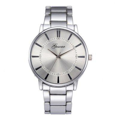Large Dial Cool Quartz Stainless Steel Business Wrist Watch