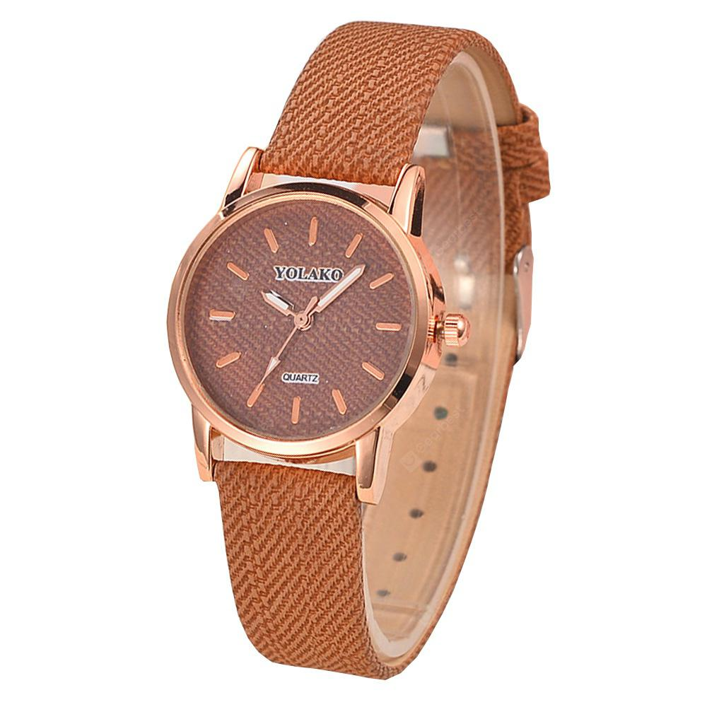 Fashion Simple Leather Analog Dress Wrist Watch