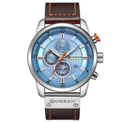 CURREN Heren Luxury Fashion Band Materiaaltype Lederen quartz-jurkhorloge