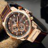 CURREN Men's Luxury Fashion Band Material Type Leather Quartz Dress Watch - OAK BROWN