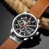 CURREN Men's Luxury Fashion Band Material Type Leather Quartz Dress Watch - DARK GOLDENROD