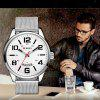 CURREN Men's Fashion and Casual Simple Quartz Sport Watch - SILVER