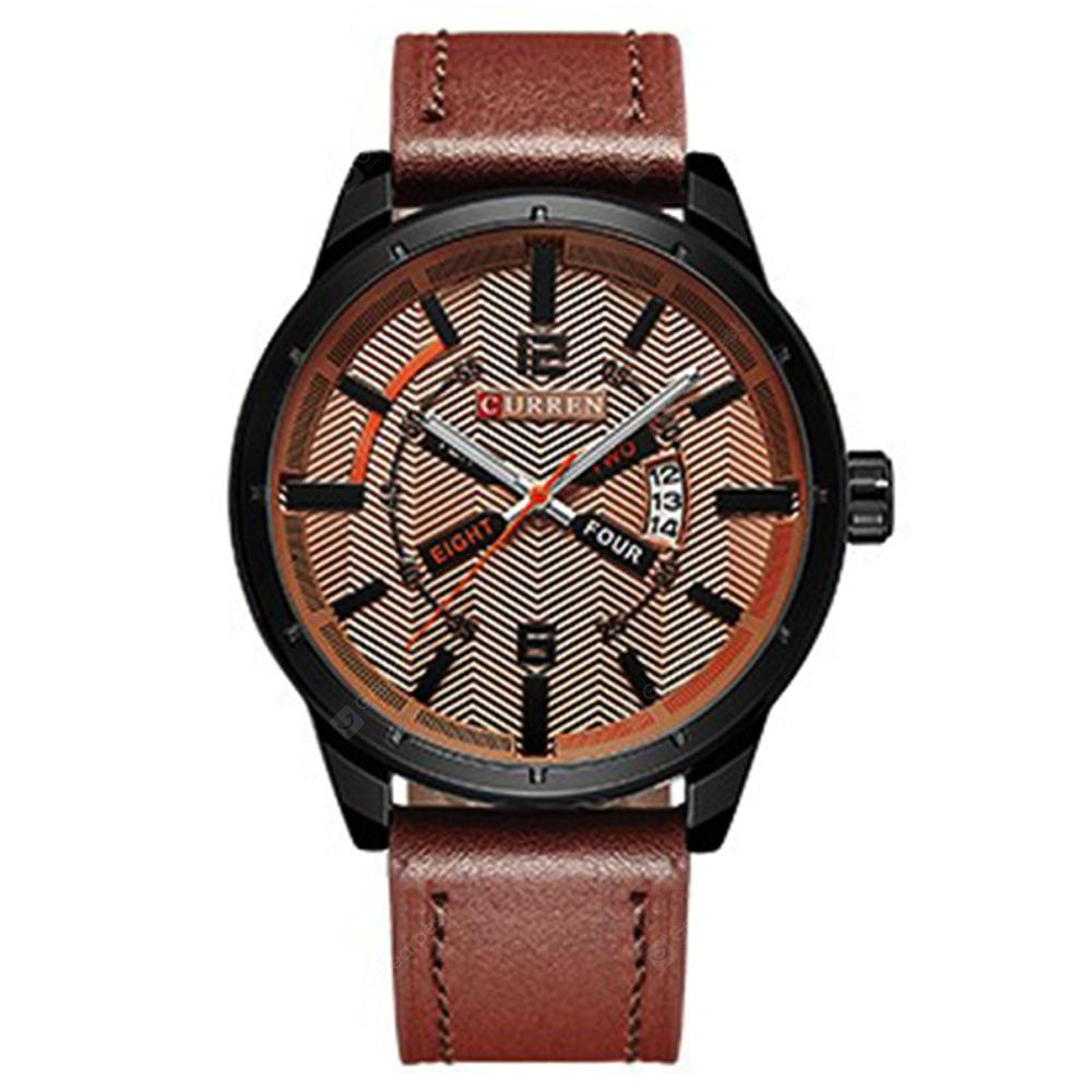 CURREN Men's Fashion Simple Leather Analog Quartz Sport Watch