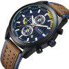CURREN Men'S Luxury Antique Leather Cool Quartz Military Sport Watch - CADETBLUE