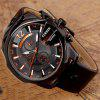 CURREN Men's Fashion Leather Band Quartz Watch - SEDONA