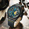 CURREN Men's Luxury Creative Band Material Type Large Dial Leather Dress Watch - BLACK