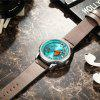 CURREN Men's Luxury Creative Band Material Type Large Dial Leather Dress Watch - MEDIUM TURQUOISE