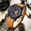 CURREN Men's Luxury Creative Band Material Type Large Dial Leather Dress Watch - TIGER ORANGE