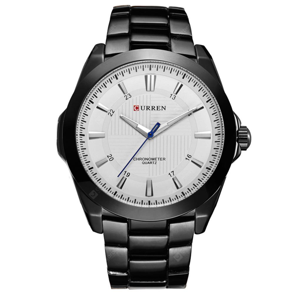 CURREN Men's Luxury Fashion and Casual Simple Stainless Steel Quartz Wrist Watch