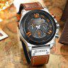 CURREN Men's Band Material Type Leather Quartz Dress Watch - LIGHT BROWN