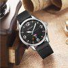 CURREN Men's Luxury intage Band Material Type Leather Quartz Dress Watch - BLACK