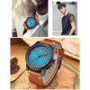 CURREN Men's Luxury Creative Band Material  Large Dial Leather Dress Watch - DEEP SKY BLUE
