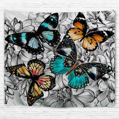 Black and White Butterfly 3D Printing Home Wall Hanging Tapestry for Decoration tropical forest 3d printing home wall hanging tapestry for decoration