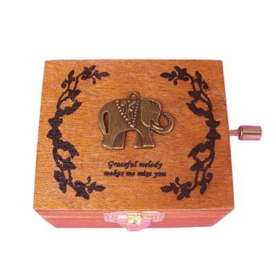 Four Songs Vintage Wood Music Box DIY Craft