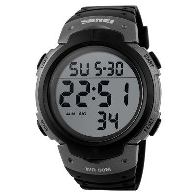 SKMEI Outdoor Sports Men Running Big Dial Digital Chronograph Watch