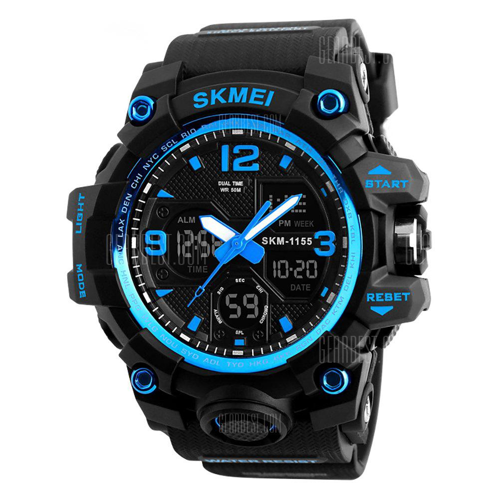 SKMEI Men Sport Digital Chronograph Double Time Alarm Light Wristwatches