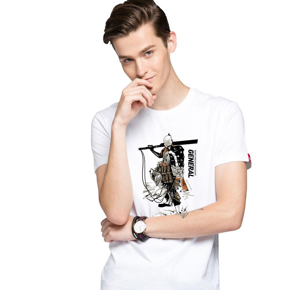 HB Men's Pure Cotton High Definition Printing T-Shirt-000349