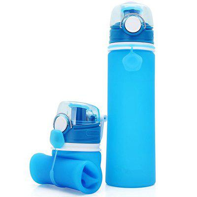 Collapsible Water Bottle Silicone Foldable with Leak Proof Valve BPA Free
