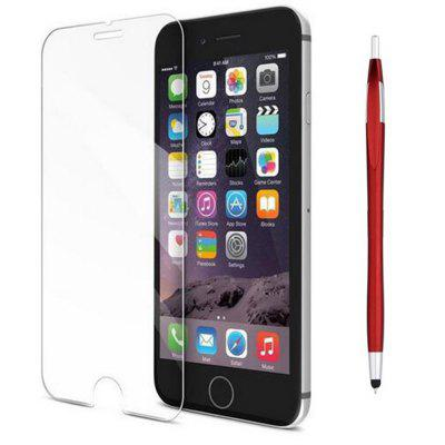 SZKINSTON Tempered Glass Screen Protector Film Capacitive Pen for iPhone 8 / 7 stand leather case for iphone 6 plus 6s plus 5 5 inch with card slot dark blue