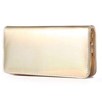 Women\'s Hologram Zipper Around PU Leather Wallet Clutch Purse rochas шерстяное платье с кулиской