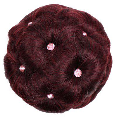 TODO 12cm Flowers Bud Insert Comb Band Clip In Bun Updo Cover Hair Extensions