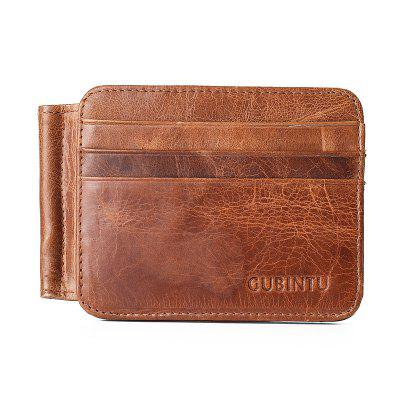 GUBINTU 044 Vintage Credit Card Holder Money Clip Genuine Leather Wallet 2 5 18cm pop price card advertising tag clip label holder adjustable clear plastic sign holder