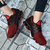 Running Couple Shoes Trainers Men Jogging Plus Size Outdoor Athletic Sneakers - RED WINE