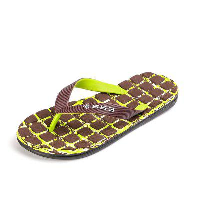 Camouflage Squar Flip-Flops Manufacturers Sands Sandals Slippers Men Beach Shoes