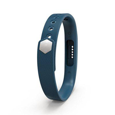 For Fitbit Flex 2 Soft Silicone with Metal Clasp Buckle Wrist Strap Watch Band