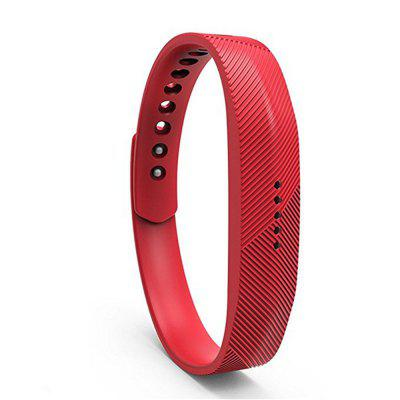 For Fitbit Flex 2 Soft Silicone with Metal Clasp Buckle Wrist Strap Watch Band quick release silicone rubber watchband for zenith paul picot watch band steel buckle wrist strap grey black blue 19 20 21 22mm