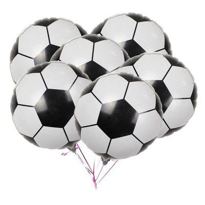 10PCS Aluminum Foil Football Balloons for Birthday Party Decorations