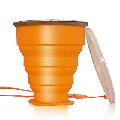 Collapsible Travel Mug Silicone Unique Camping Gear Supplies Accessor