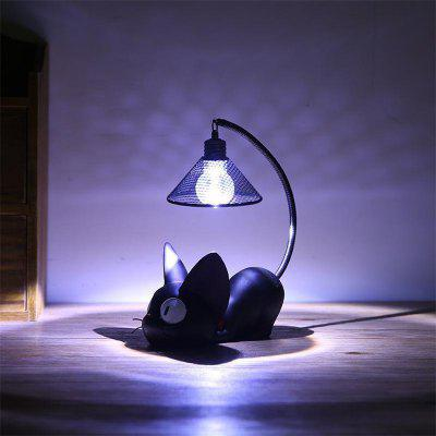 Mini Cute Black Cat Night Light Table Lamp Home