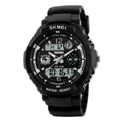 SKMEI Sports Shock Resistant Men LED Watch Military Digital Quartz Watch