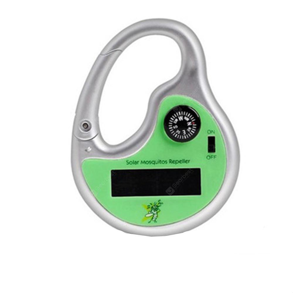 Ultrasonic Repeller Outdoor Mosquito Pest Solar Powered Charged -  Green