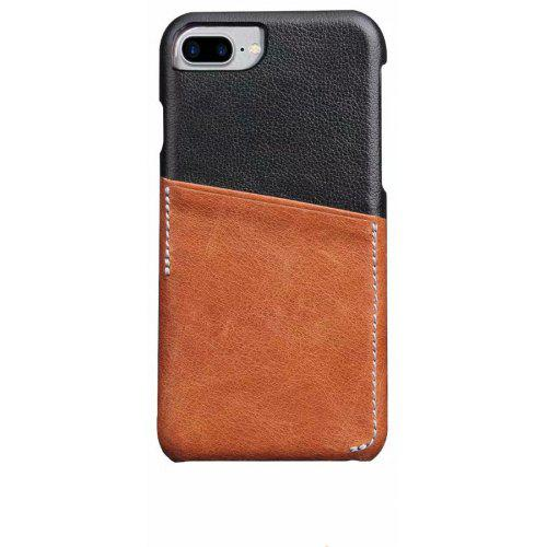 For Iphone 8 Plus 7 Plus Case Genuine Leather Business Card Holder
