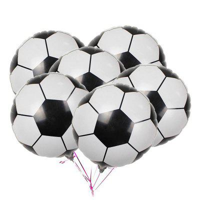 10PCS Aluminum Foil Soccer Balloons for Birthday Party  Decorations