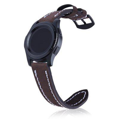 22MM Vintage Genuine Leather Strap Replacement for Samsung Gear S3 Classic