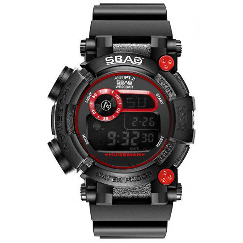 SBAO S-8019-1 Man LED Movement Waterproof Military Watches