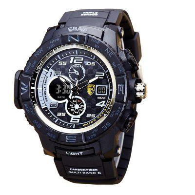 SBAO S-8006-2 Homens Esporte Waterproof Digital LED Watch