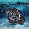 SBAO S-8006-2 Men Sport Waterproof LED Digital Watch - WHITE