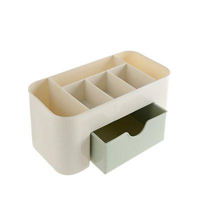 Plastic Desktop Cosmetic Home Multi-purpose Jewelry Storage Box 1pcs