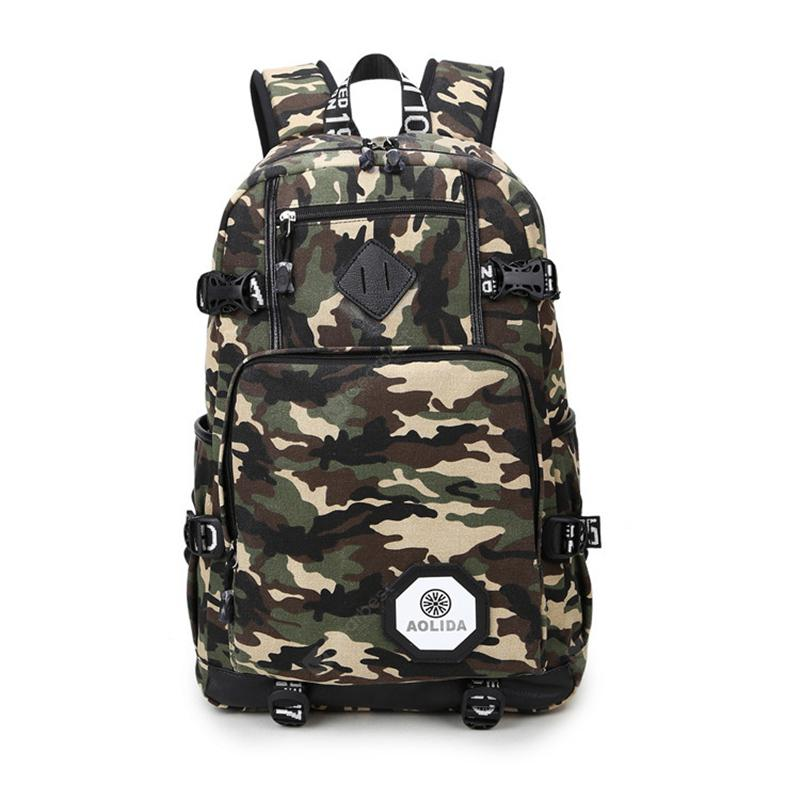 Aolida 6101-1 Large Capacity Camouflage Outdoor Backpack Laptop Bag