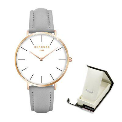 Super Thin Money Simple Moda Pareja Reloj